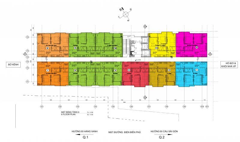 căn hộ Penhouse dự án 152 Điện Biên Phủ, giá gốc từ CĐT.