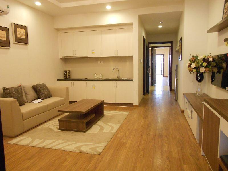 Mình cần cho thuê căn hộ 85m/2PN, sàn gỗ tầng 9 tòa CT2 Nam Cường