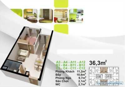 Sở hữu những căn cuối cùng của căn hộ 598tr/nguyên căn