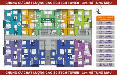 Chính chủ bán căn góc 06 Chung cư 304 Hồ Tùng Mậu, DT:79,5m2 giá rẻ 22tr/m2 full Nt
