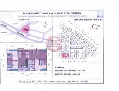 Chính chủ bán căn góc 3 phòng ngủ, 77.76 m2 chung cư vp6 linh đàm, hn
