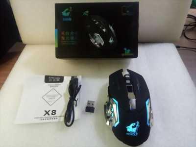 Chuột không dây cao cấp Free Wolf X8 dùng pin sạc