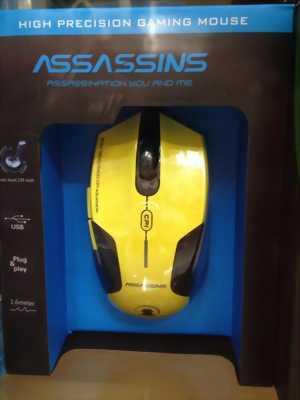 Chuột Assassins N500 Vàng Usb chuyên game chính hãng