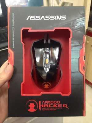 Chuột Assassins Hacker AM1000 Đen Đỏ Usb.