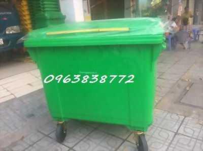 Thùng rác công cộng 660L nhựa hdpe - thùng rác composite 660L.