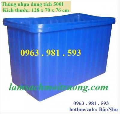 thùng nhựa dung tích lớn giá cả phải chăng
