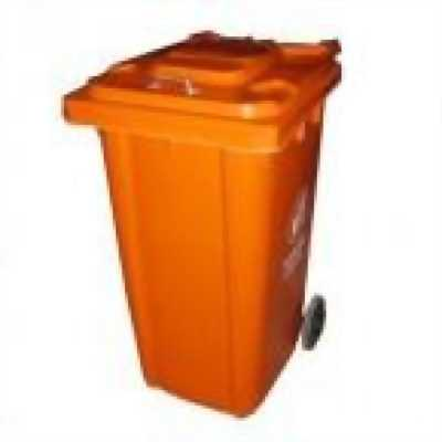 Giảm giá thùng rác nhựa 120L 2 bánh xe kéo