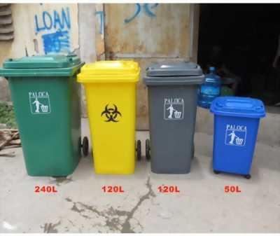 Thùng rác nhựa 120 lít, thùng rác công nghiệp giá rẻ.