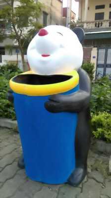 Chuyên sản xuất thùng rác hình thú tại long biên