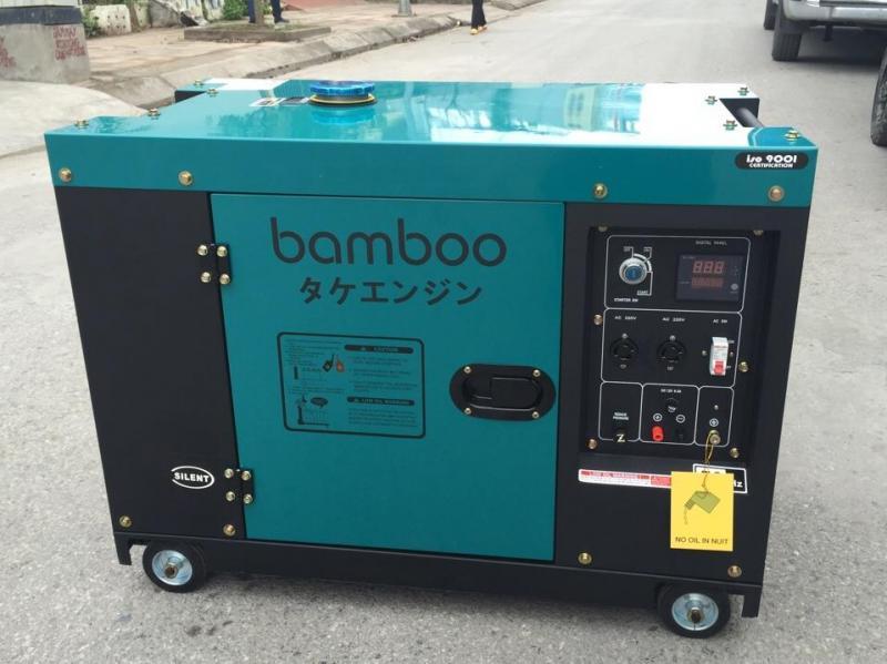 Máy phát điện bamboo chạy dầu 7kw, chống ồn