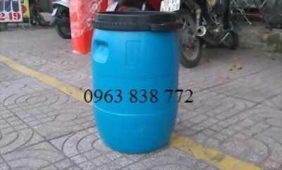 Bán thùng nhựa 50L - thùng phi  nhựa đựng hóa chất 120L.