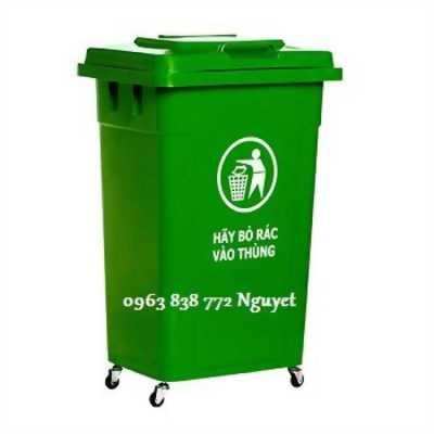 Bán thùng rác 90L - thùng rác dùng ngoài trời.