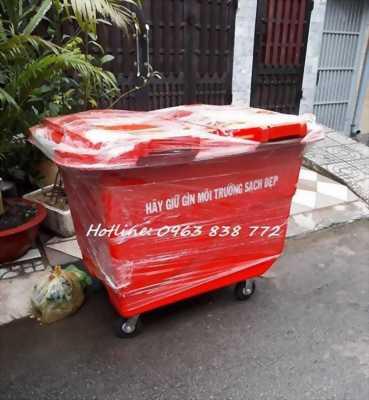 Thùng rác nhựa composite 660L - thùng rác công cộng.