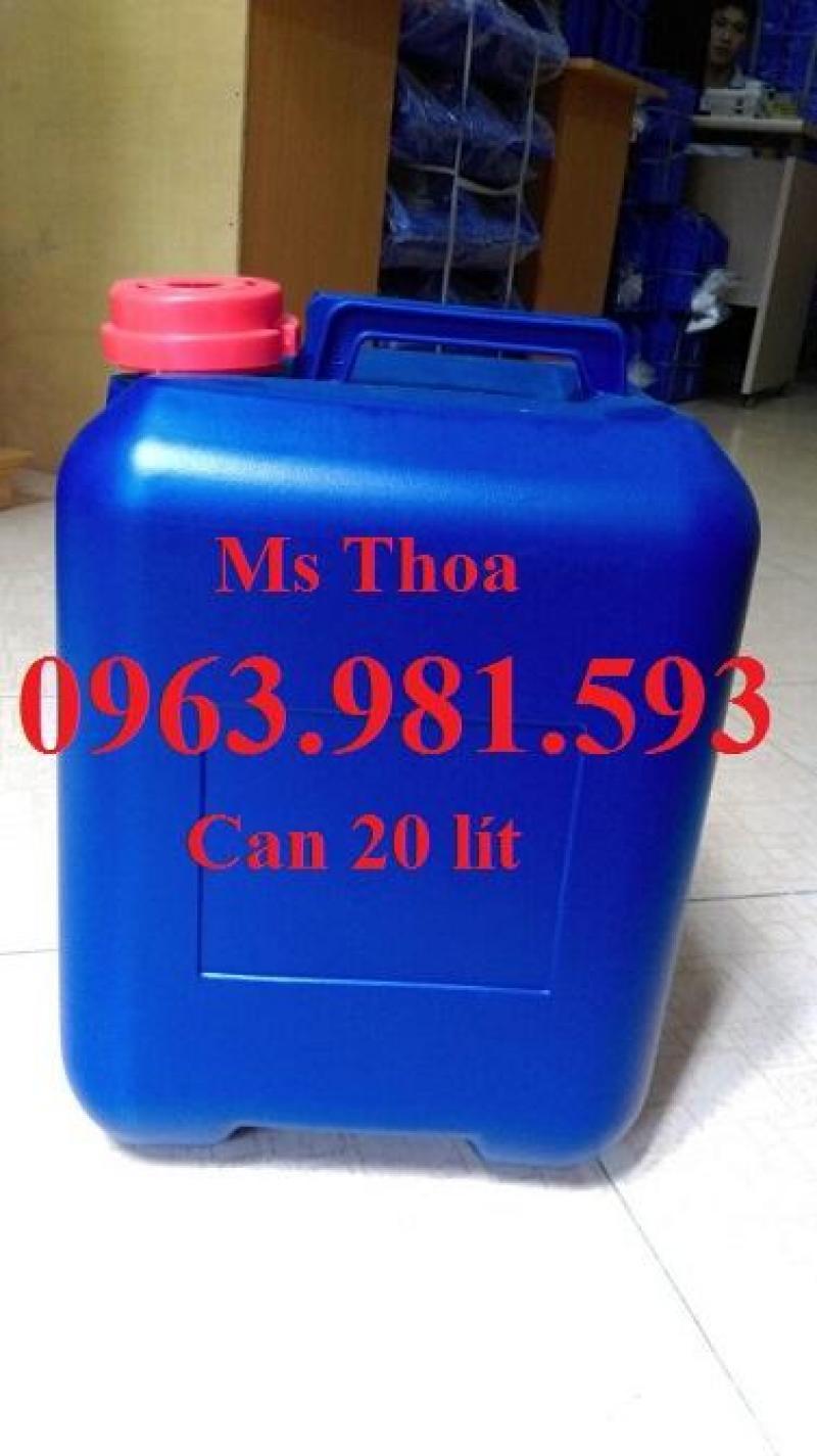 Can đựng hóa chất, can đựng dung môi hữu cơ, can đựng dung dịch lỏng, can 20l, 25l, 30l, can nhựa chống tràn giá rẻ.
