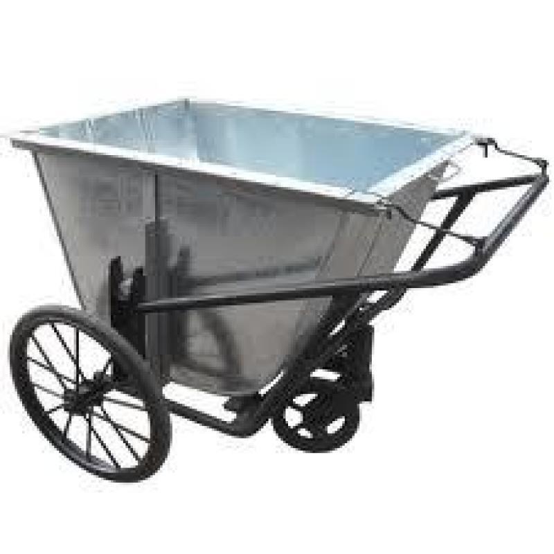 Xe gom rác, xe đẩy rác tôn giá rẻ .