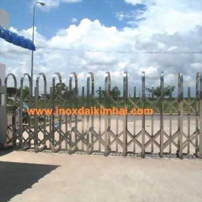 Cổng xếp inox, Cổng xếp inox 304  tự động cao 1,6m 1,8m 2.15m 2.4m 3.0m 0983064649
