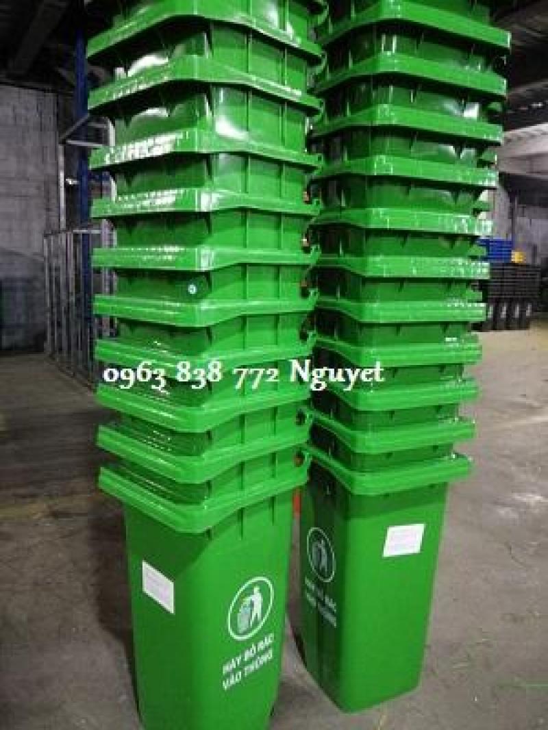 Phước Đạt - thùng rác nhựa hdpe 240 lít 2 bánh xe /Lh 0963 838 772