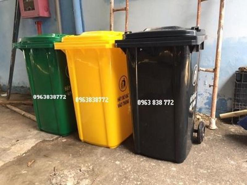 Thùng rác 660 lít nhựa hdpe - thùng rác môi trường / 0963838772