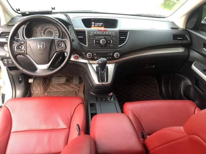 Bán xe honda Crv 2.4, sản xuất 2015, số tự động, màu trắng