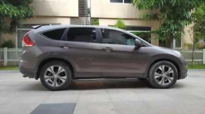 Cần bán xe Crv 2014, số tự động bản 2.4, màu xám cọp