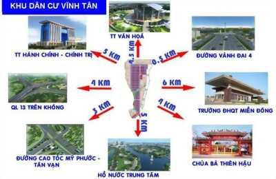Đất kinh doanh  Xây trọ KCN VSIP 2 Bình Dương, dân đông