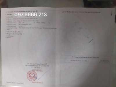 Chú 2 đã già cần bán lô đất thổ cư KCN Tân Đô,130m2, đường lớn