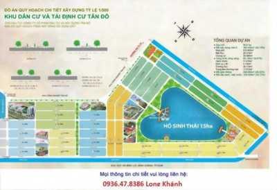 Cần bán gấp 5 nền đất khu dân cư Tân Đô, Đất Nam Luxury khu dân cư đông đúc tiện đầu tư