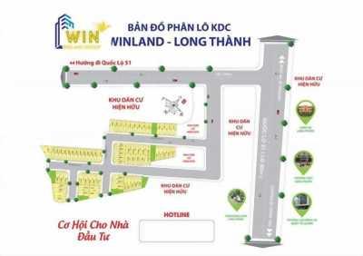 Cần bán đất ở dự án winland long thành, đồng Nai . Giá chỉ từ 500 triệu trên lô. Lh 0969526450