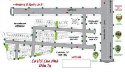 Một dự án đẹp nằm ngay MT QL 51, xã Long Phước-Long Thành, 5x20,6x20, shr, 0938247698.