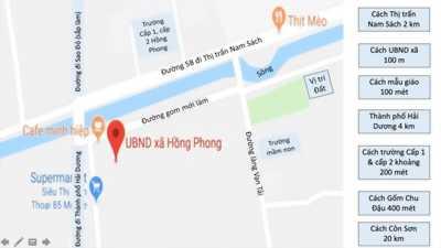 Bán lô đất tại xã Hồng Phong