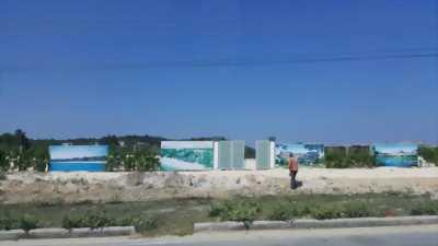 Đất gần cảng nước sâu Tân Tập.