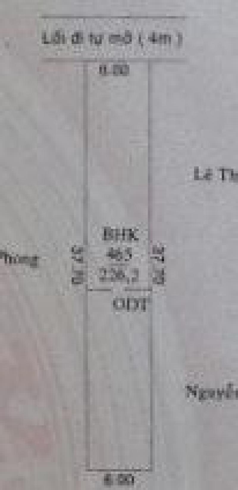 ĐẤT ĐẦU TƯ 6 x 37 THỔ CƯ 100 MÉT ĐƯỜNG 4,5 MÉT