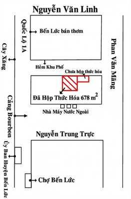 BÁN ĐẤT BẾN LỨC THỔ CƯ GẦN CẢNG BOURBON TP.HCM