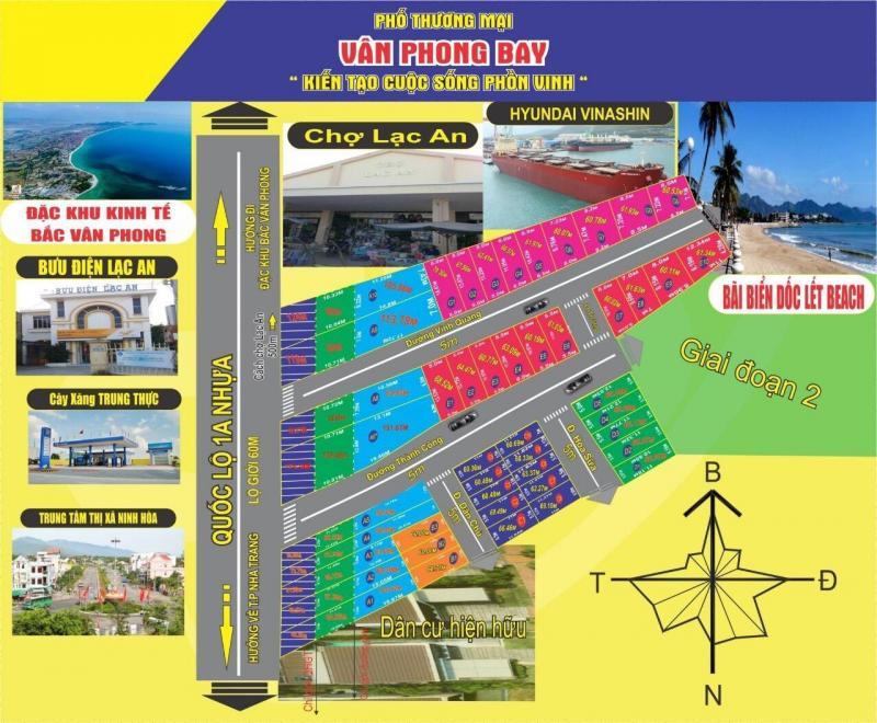 Đất nền thổ cư MT QL1A Ninh Hoà, Nha Trang 65m2 giá 360tr shr