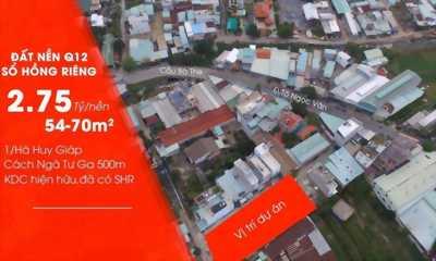 Mở bán giá F0 12 lô đất 1 sẹt Hà Huy Giáp Phường Thạnh Xuân diện tích 4x14m đường rộng