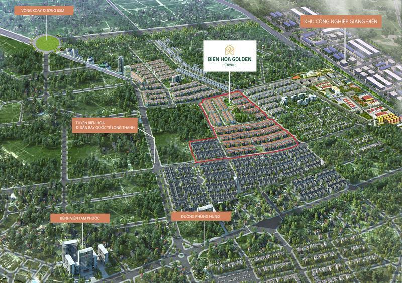 Đầu tư vào dự án đất nền Biên Hòa Golden Town