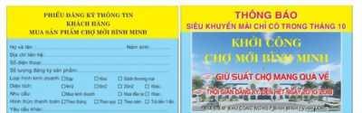 Đăng ký suất chợ miễn phí 100% tại Vĩnh Long