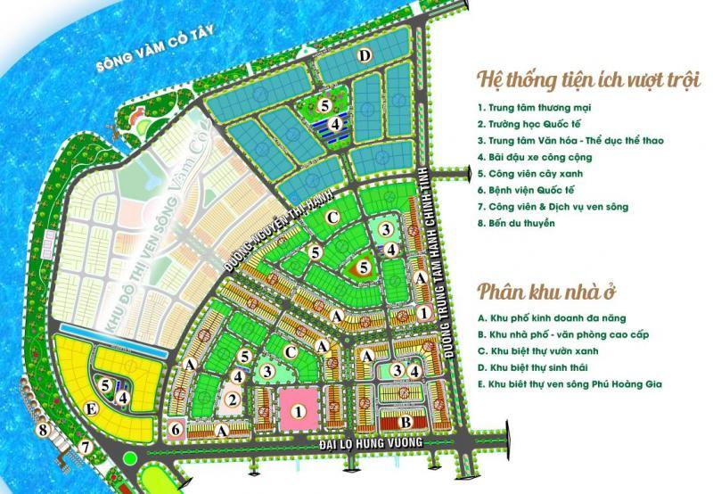 Đất nền mặt tiền đường Hùng Vương, tt thành phố Tân An