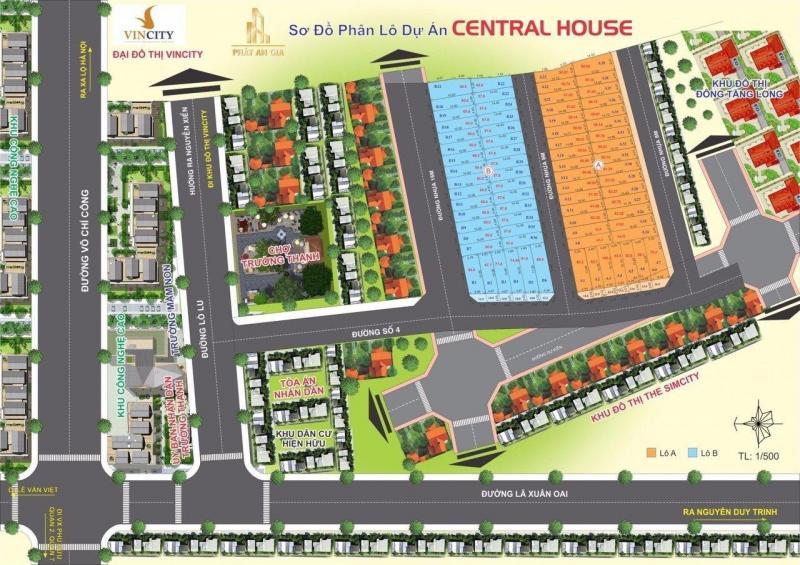 Dự Central house đất nền q9 nằm ngay mặt tiền đường 4 Lò Lu giá 36tr/m2