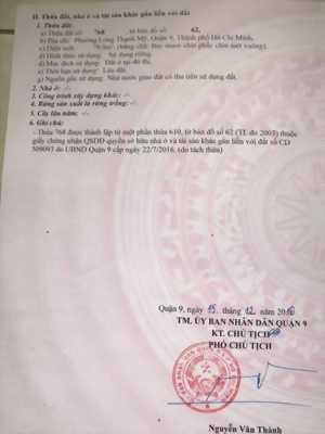 Cần bán lô đất 2MT Nguyễn Xiển cực đẹp giá tốt chính chủ LH: 0933125681