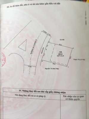 Bán đất mặt tiền đường 30/4 Phường Phú Thọ – Thủ Dầu Một – Bình Dương
