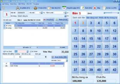 Chuyên phần mềm quản lý bán hàng tính tiền cafe