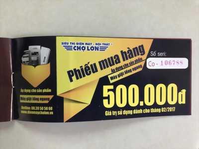 Phiếu mua hàng giảm 500k của điện máy chợ lớn