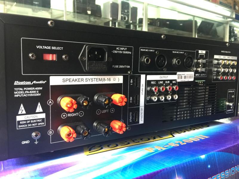 Amply bluetooth Boston PA-6200 II có cổng optical và coaxial