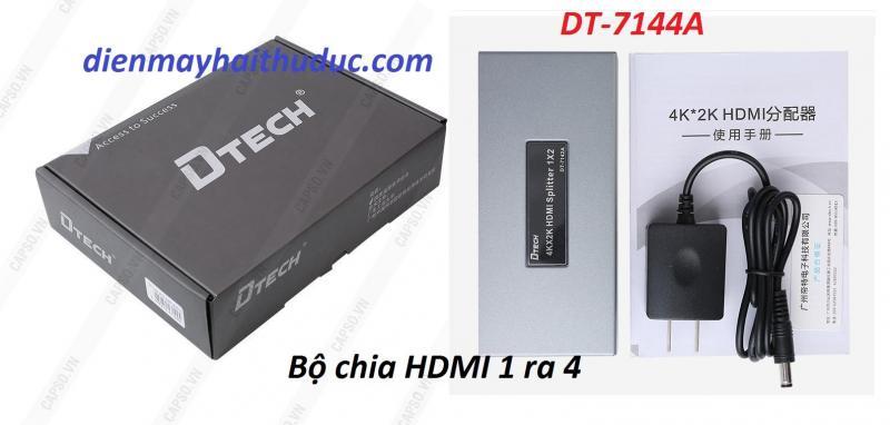 Box chia HDMI 1 ra 4 DTECH DT-7144A hàng cao cấp giá rẻ
