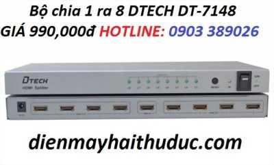 Box chia HDMI 1 ra 8 DTECH DT-7148 hỗ trợ 4K x 2K