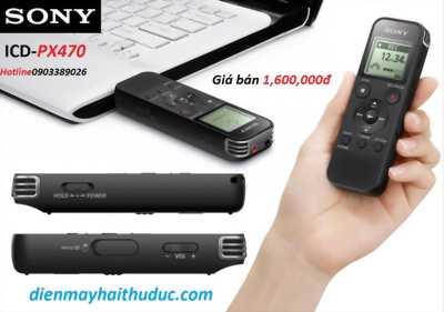 Máy ghi âm Sony ICD-PX470 hàng cao cấp chính hãng 100%