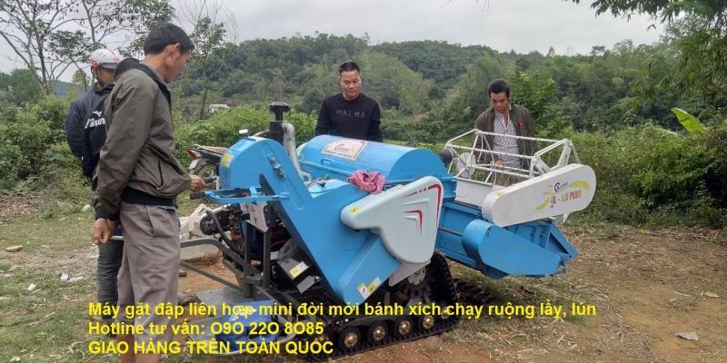 Nơi bán máy gặt đập liên hợp mini 4L-1.0 plus giá siêu rẻ