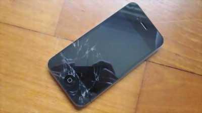 Bán điện thoại iphone 4s 13Gd bị bể một nữa màng hình