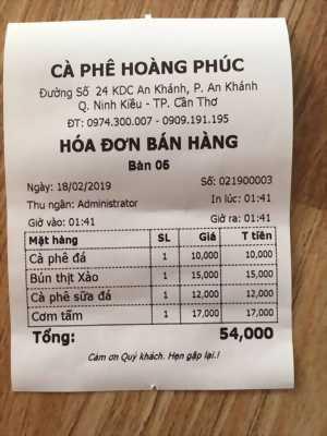Lắp đặt máy tính tiền cho quán cafe tại Cần Thơ